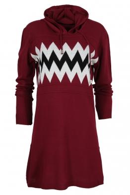 Дамска туника - рокля 519 бордо