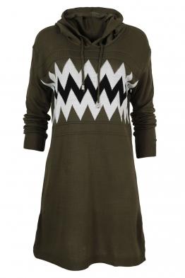 Дамска туника - рокля 519 зелена