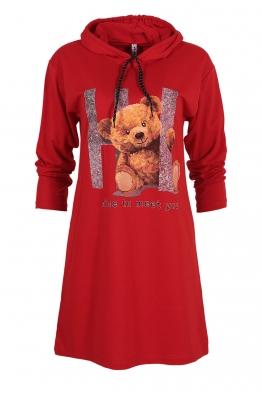 Дамска туника - рокля ARI червена