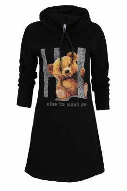 Дамска туника - рокля ARI черна
