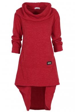 Дамска рокля - туника CAMMO червена