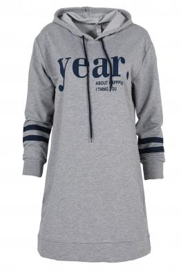 Дамска туника - рокля YEAR сива