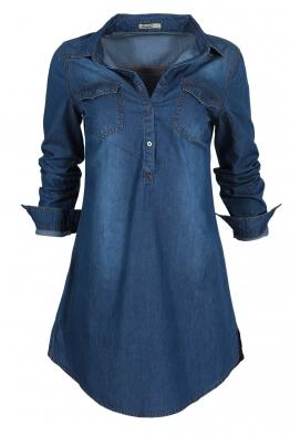 Дънкова рокля-туника 8156-20