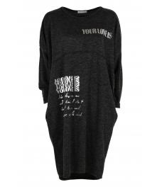 Свободна дамска рокля CAPRICE черна